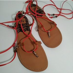 DV gladiator sandals orange size 8.5